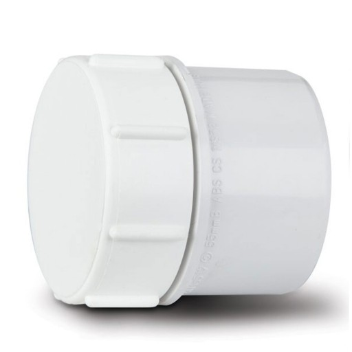 ABS 40mm Solvent Weld Access Cap (White)