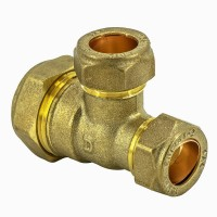 Compression Fitting Reducing Tee