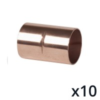 10 x End Feed Coupler  15mm